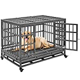 Heavy Duty Dog Crate Metal Dog Kennel and Playpen for Medium and Large