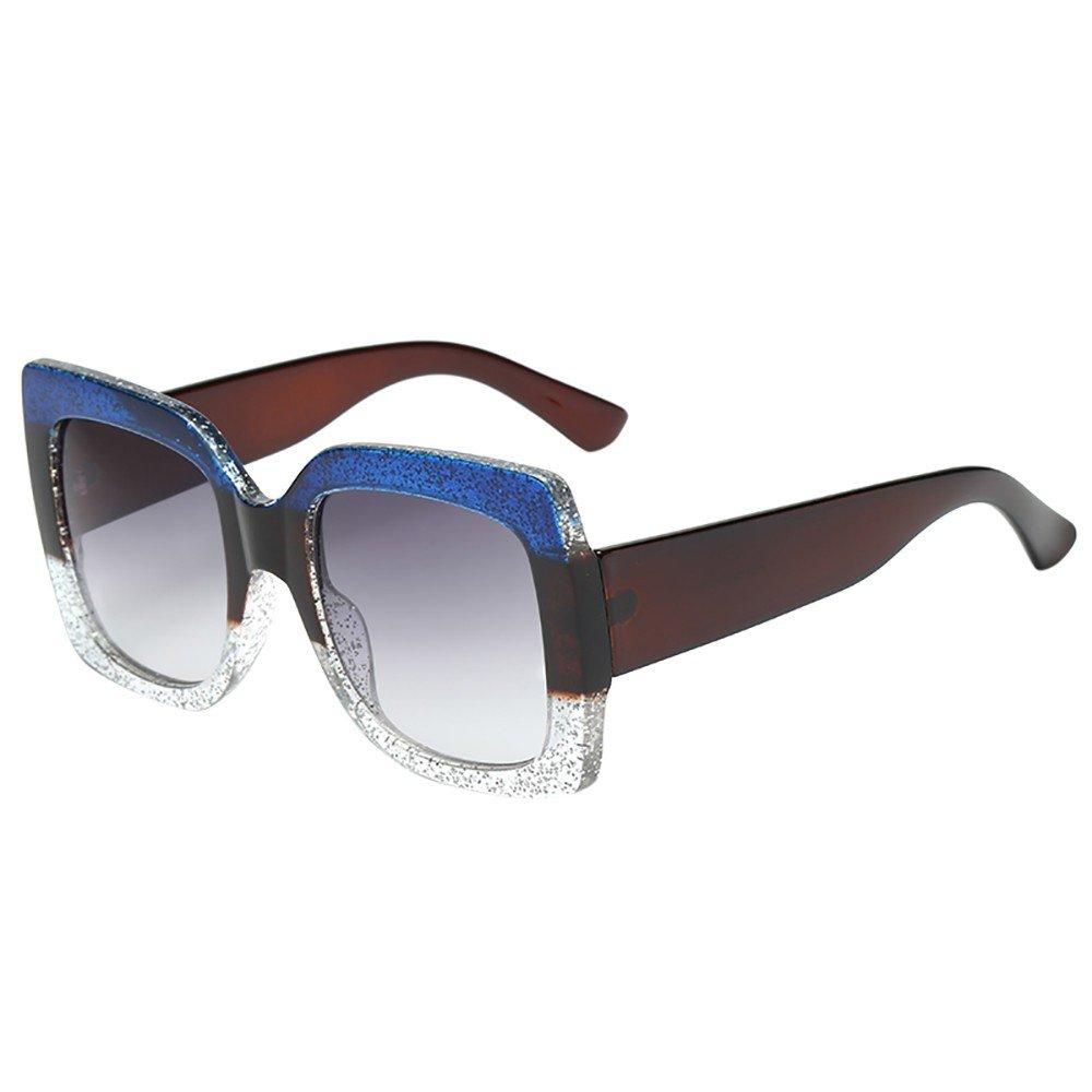 Allegorly Damen Vintage Sonnen Brillen Große Schachtel Mode Brillen Verlaufslinse Polarisierter Schutz UV400 für das Fahren/Angeln/Golf
