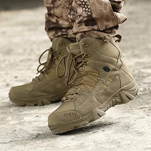 ailishabroy armée mâle Commando Combat désert en Hiver Bottes de randonnée en Plein air d'atterrissage Chaussures… 3