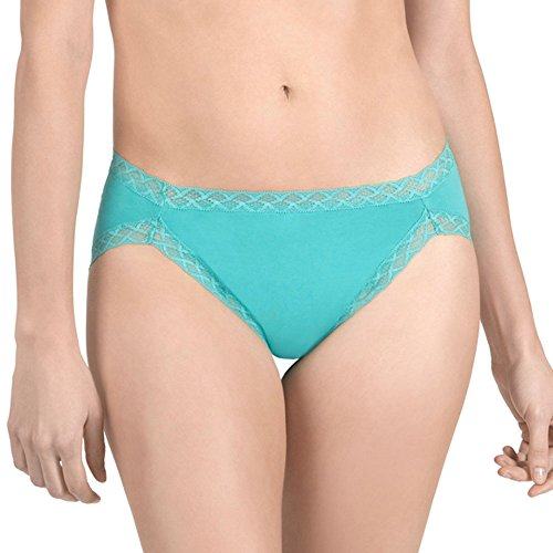 Natori Women's Bliss French Cut, Gem Turquoise, - French Lace Panty Cut