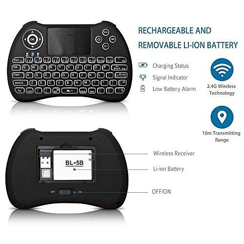 ACEMAX H9 2 4G Wireless Backlit Backlight Mini Keyboard
