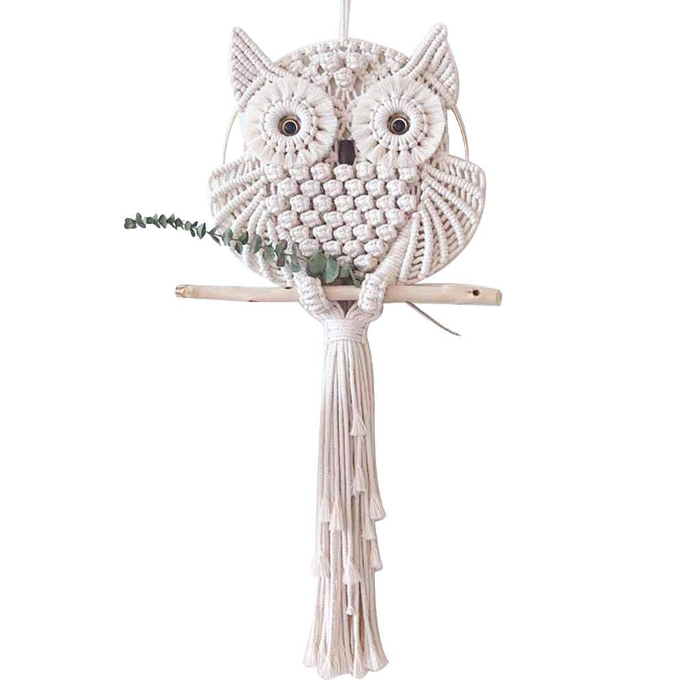 seelive Wall Hanging Owls Dream Catchers Cotton Macrame Wall Hanging Macrame Decor for Bedroom Livingroom Office by seelive