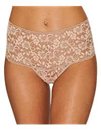 Hanky Panky Cross Dyed Retro Thong, One Size, Taupe Vanilla
