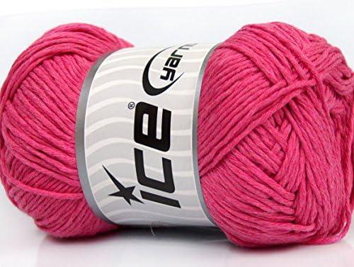 Lot de 4 x 100 gr madejas hilo hilos algodón Natural de hielo (100% algodón) color rosa: Amazon.es: Juguetes y juegos
