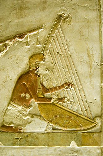 Ancient Egyptian Harpist Wall Decal