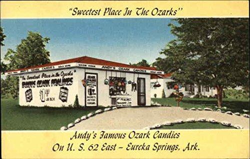 - Andy's Famous Ozark Candies, Sweetest Place in the Ozarks Eureka Springs, Arkansas Original Vintage Postcard