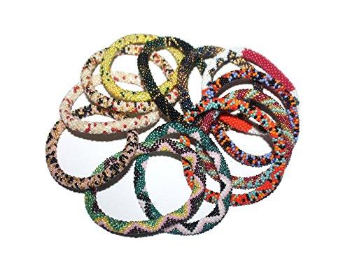 Goldenlines 6 Random mix bracelets Nepal bracelets Roll On Bracelet (SET OF 6)
