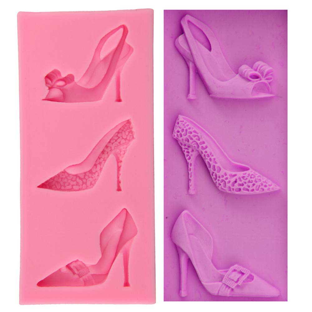 MoGist High Heel Fondant Cake Mould Silicone Cake Chocolate Fondant Mold Silicone Baking Molds