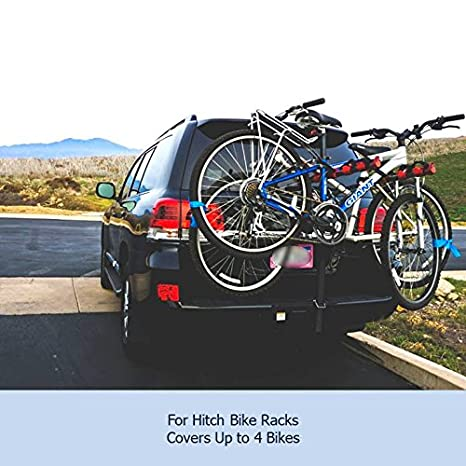 Formosa Covers Bike Cover for Car, Truck, RV, SUV Transport on Rack -  Protection While You Roadtrip or Perfect for Home Storage, Reflectors 1, 2,  or