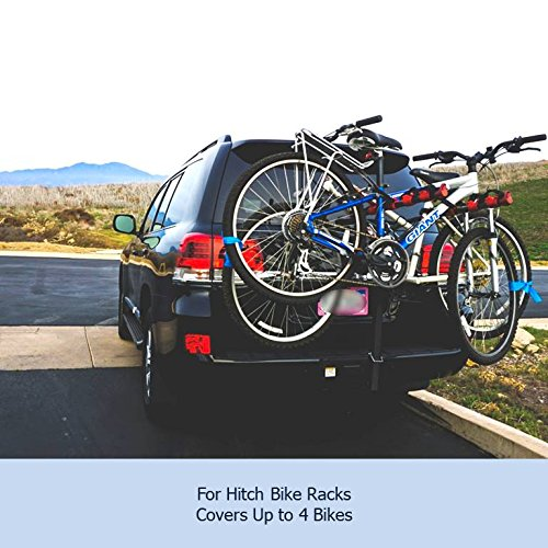 Amazon.com: Bike Cover for Transport on Car, Truck, Suv, RV Rack or Home  Storage, Reflectors, fits 1-4 Bikes: Automotive