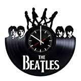 The Beatles Vinyl Records Wall Clock – Music Band Wall Art Room Decor Handmade Decoration Party Supplies Theme Stuff Birthday Gift For Kids Adults Men Women – Vintage And Modern Style Review