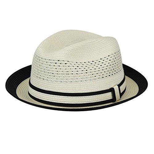 Country Gentleman Mens Noah Vented Fedora Hat Two Tone Brim