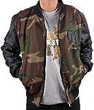 Wu-Wear Protect Ya Neck College Bomber Jacket Camouflage Wu-Tang Clan M-XXL
