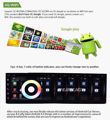 Black EinCar 7-Inch Android 4.2 Double-2 DIN In Dash Car Audio Player