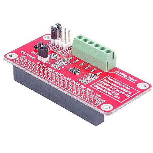 Price comparison product image TOOGOO(R) 4-Channel 16Bit ADC With PGA For RPI Raspberry PI 16 Bits I2C ADS1115 Module ADC 4 Channel for Raspberry Pi 3/2 Model B/B+