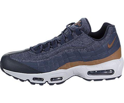 Nike AIR MAX 95 PRM Mens Fashion Sneakers 538416 403_9 Thunder BlueALE Brown Dark Obsidian