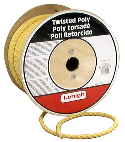 Lehigh Secure Line PY412 Twisted Poly Rope 1//4-Inch by 1200-Foot Crawford-Lehigh