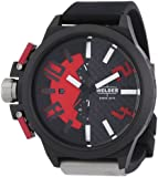 Welder by U-boat K35 Oversize Chronograph Black PVD Steel Mens Watch Red Dial K35-2501