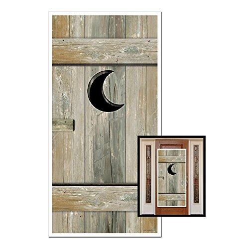 Club Pack of 12 Western Themed Outhouse Door Cover Party Decorations 5'