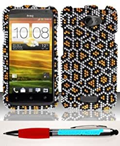 Bloutina Accessory Factory(TM) Bundle (the item, 2in1 Stylus Point Pen) For HTC One X Elite (AT&T) Full Diamond Design...