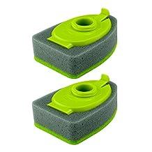 Casabella 16929 2-Pack Smart Scrub Soap Dispensing Sponge Brush Refill for Item No.15936 and 15986