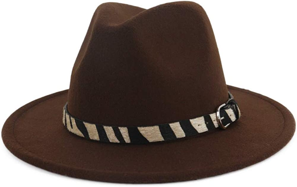Men Women Fedora Hat Wide...