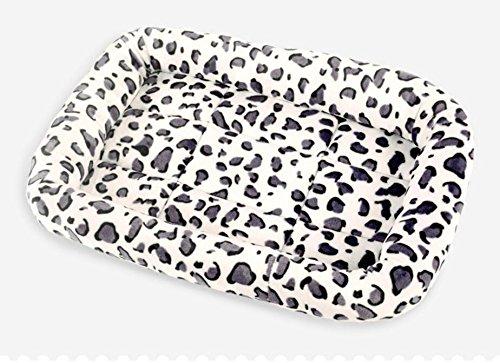 Huihuger Useful Comfortable Warm Dog Cat Puppy Pet Bed Pet Kennel Sleeping Mat(White Leopard,M)
