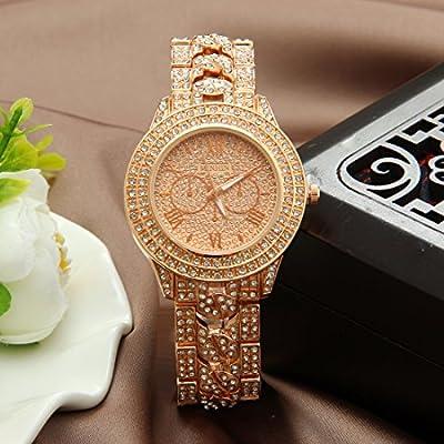 MINHIN Studded with Diamonds Alloy Geneva Geneva Watch Unisex Luxury Shiny Watches by Jiarui