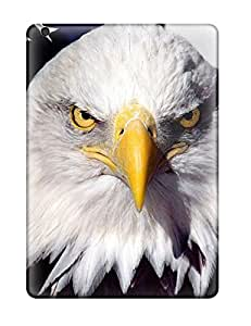 Ipad Air Case Cover - Slim Fit Tpu Protector Shock Absorbent Case (eagle Bird On Flag)