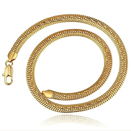Cheshire Cat Costumes 2016 (AmDxD Jewelry Gold Plated Chain Necklaces for Women Men Gold Stripe Snake Necklace)
