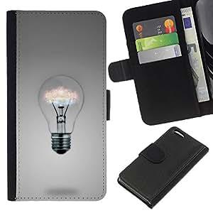BearCase / Cuero de la tarjeta la carpeta del tirón Smartphone Slots Protección Holder /// Apple Iphone 5C /// Ideas de la bombilla
