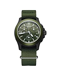 Victorinox Swiss Army Men's 241531 Original Chronograph Green Nylon Strap Watch