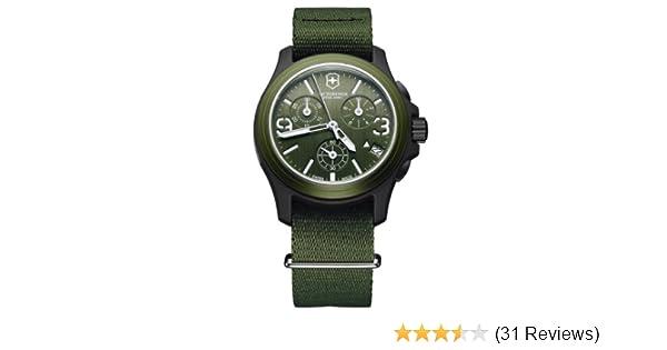 658b7cf96 Amazon.com: Victorinox Swiss Army Men's 241531 Original Chronograph Green  Nylon Strap Watch: Victorinox: Watches