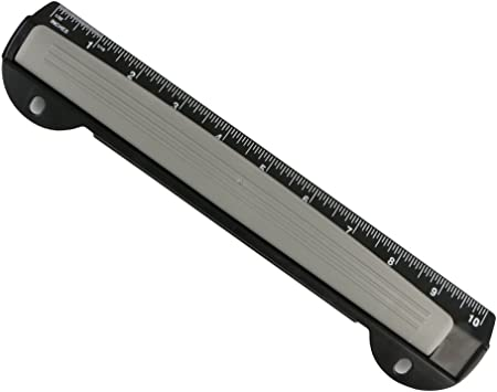 Integrated Ruler Eagle Portable Ring Binder 3-Hole Punch with Chip Tray