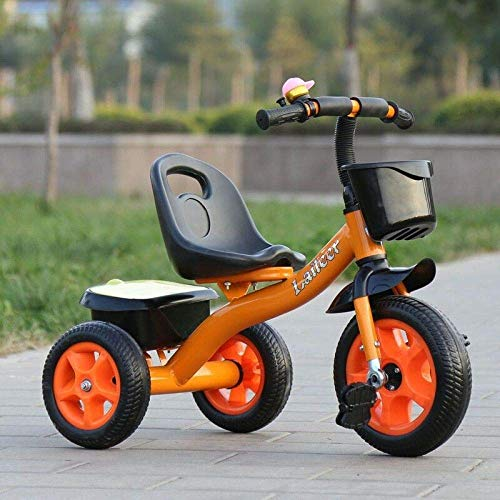 Childrens Tricycle Childrens Tricycles 2 To 6 Years The Seat Can Be Adjusted Back Kids Tricycle Detachable And Adjustable Push Handle Anti-slip Pedals Folding Footrests Child Trike Maximum Weight 25 K