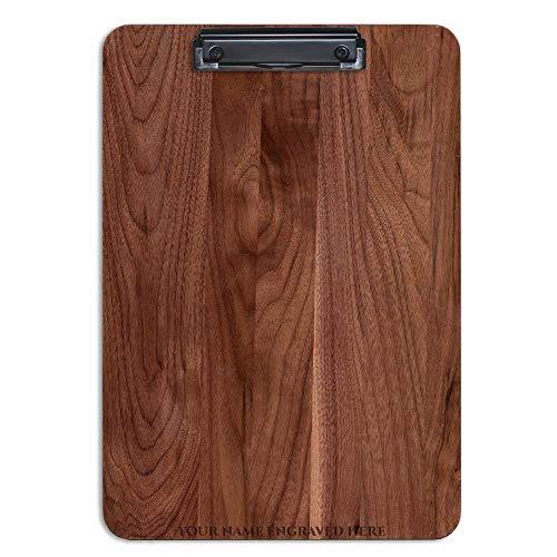 - Personalized Hardwood Clipboard American Black Walnut 9.5