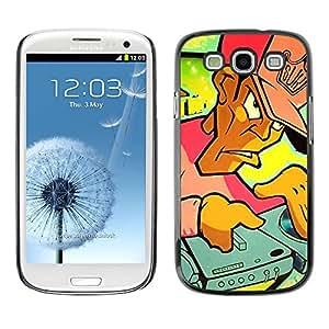 PC/Aluminum Funda Carcasa protectora para Samsung Galaxy S3 I9300 DJ Graffiti; / JUSTGO PHONE PROTECTOR