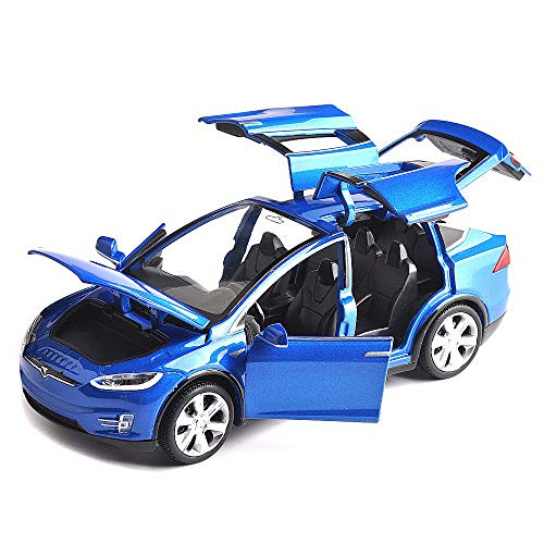 ANTSIR Car Model X 1:32 Scale Alloy diecast Pull Back Electronic Toys with Lights and Music,Mini Vehicles Toys for Kids Gift (Blue) from ANTSIR