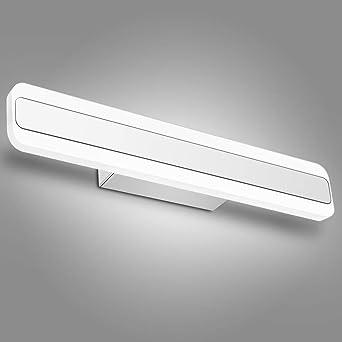 Lampe LED Salle De Bain, Applique Murale IP44, Lumière Blanc Froid 6000K,  16w
