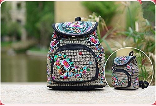 Goodhan - Bolso mochila  de Lona para mujer multicolor multicolor