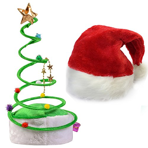 [Springy Christmas Hat - Santa Hats - Christmas Theme Hats by Funny Party Hats] (Elf Hats For Adults)