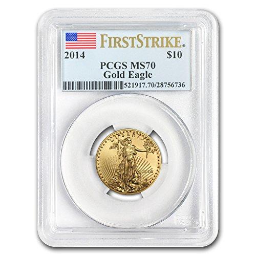 2014 1/4 oz Gold American Eagle MS-70 PCGS (FS) Gold MS-70 PCGS