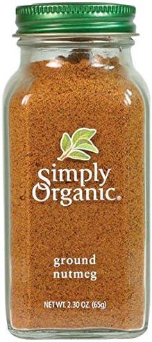Simply Organic Ground Nutmeg | Certified Organic | 2.30 oz. (3 Pack)