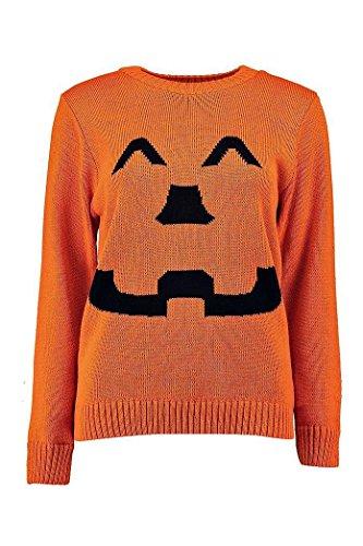 F&F Men Women Unisex Halloween Pumpkin Orange Jumper Fancy Dress