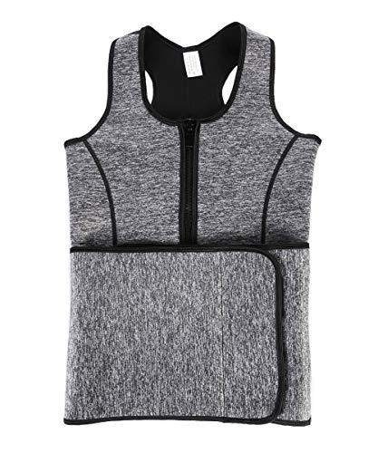 70809e4c8d0b8 GIRL MELODY Sauna Sweat Zipper Waist Trainer Vest for Women Weight Loss  Slimming Tank Top with