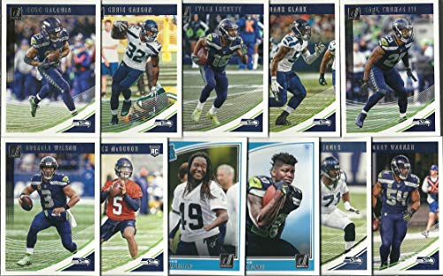 (2018 Panini Donruss & Score Football Seattle Seahawks 2 Team Set Lot Gift Pack 25 Cards W/Rookies)