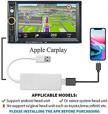 USB Dongle Adaptateur GPS pour Apple iOS CarPlay Android Autoradio Navigation