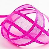 Satin Edge Organza Ribbon - 10mm x 25m - Cerise