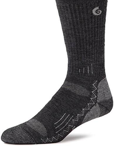 Point 6 Hiking Tech Grey Medium Weight Cushioning Socks