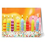 24 Birthday Cards - Blow Out the Candles - Blank Cards - Yellow Envelopes Included